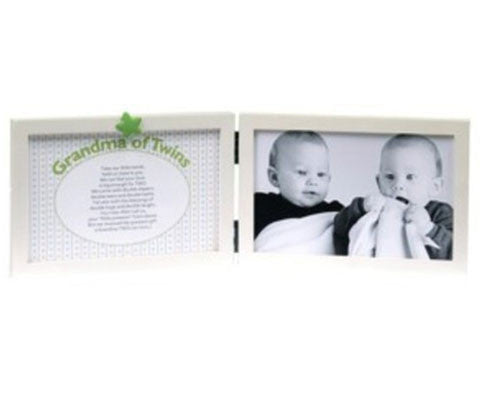 Grandmother of Twins Tabletop Frame | Duet Babies
