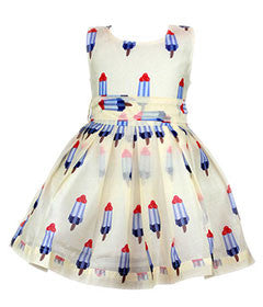 Doe a Dear Popsicle Print Dress Yellow - Duet Babies