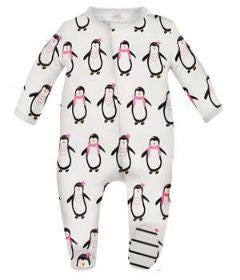 Magnificent Baby Girl Party Penguin Footie