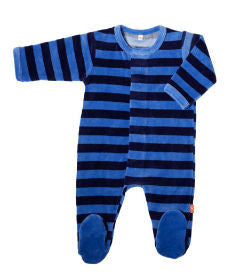 Magnificent Baby Midnight/Sky Velour Footie
