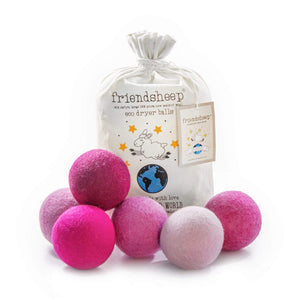 Friendsheep Eco Dryer Balls Pink Valentine Eco Dryer Balls