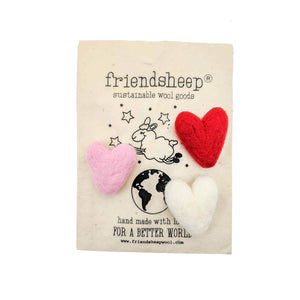 Friendsheep Fabric Freshener 1 RED, 1 PINK, 1 WHITE Eco Fabric Fresheners - Pink Valentine - Set of 3
