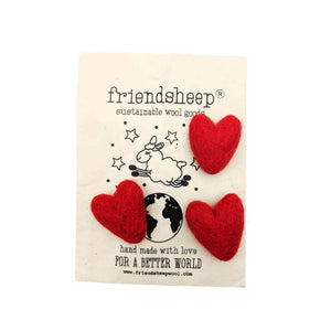 Friendsheep Fabric Freshener 3 RED Eco Fabric Fresheners - Red Valentine - Set of 3