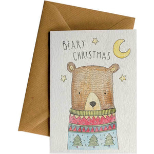 Friendsheep Sustainable Goods greeting_card Beary Christmas - Greeting Card