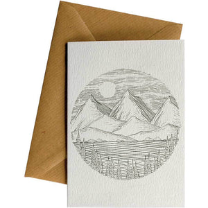 Friendsheep Sustainable Goods greeting_card Circle Mountain Lake - Greeting Card