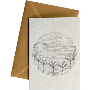Friendsheep Sustainable Goods greeting_card Circle Nikau Waves - Greeting Card