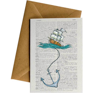 Friendsheep Sustainable Goods greeting_card Dictionary Anchor Ship - Greeting Card