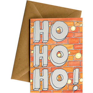 Friendsheep Sustainable Goods greeting_card Ho Ho Bricks - Greeting Card