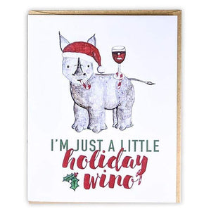 Friendsheep Sustainable Goods greeting_card I'm just a little holiday wino - Greeting Card