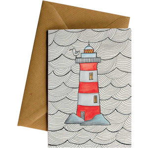 Friendsheep Sustainable Goods greeting_card Lighthouse - Greeting Card