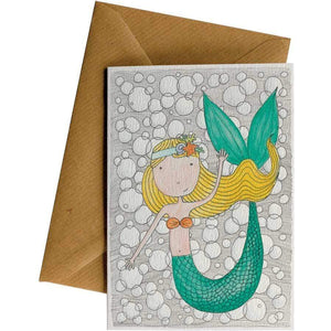 Friendsheep Sustainable Goods greeting_card Mermaid - Greeting Card