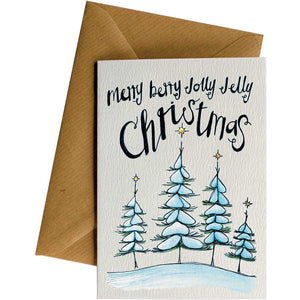 Friendsheep Sustainable Goods greeting_card Merry Berry Christmas  - Greeting Card