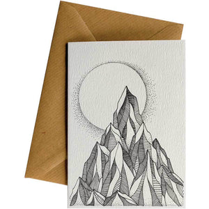 Friendsheep Sustainable Goods greeting_card Moon and Mountains - Greeting Card
