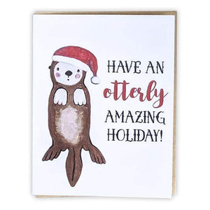 Friendsheep Sustainable Goods greeting_card Otterly Amazing Holiday - Greeting Card