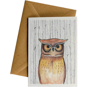 Friendsheep Sustainable Goods greeting_card Owl - Greeting Card