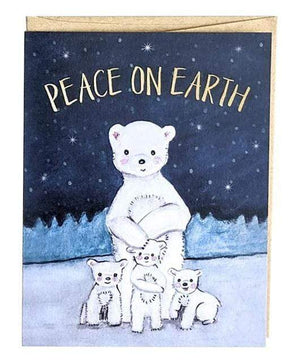 Friendsheep Sustainable Goods greeting_card Peace on Earth - Greeting Card
