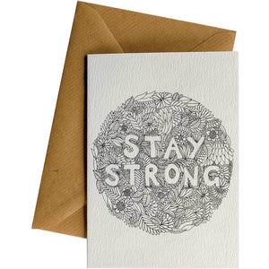 Friendsheep Sustainable Goods greeting_card Stay Strong - Greeting Card