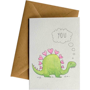 Friendsheep Sustainable Goods greeting_card Stegosaurus You - Greeting Card
