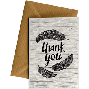 Friendsheep Sustainable Goods greeting_card Thank You (Feathers)- Greeting Card