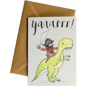 Friendsheep Sustainable Goods greeting_card Yaaarrr! (Dino)- Greeting Card