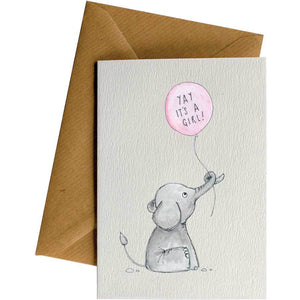 Friendsheep Sustainable Goods greeting_card Yay it's a girl! - Greeting Card