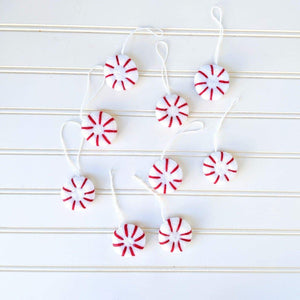 Friendsheep Sustainable Wool Goods Peppermint Eco Freshener Ornaments - Classic
