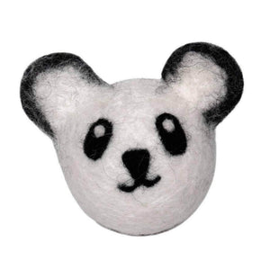 Friendsheep Sustainable Wool Goods Pet Toys Perry the Panda