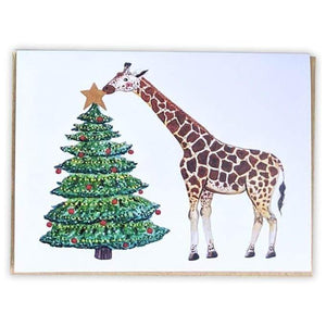 Red+Wolf greeting_card Giraffe - Greeting Card