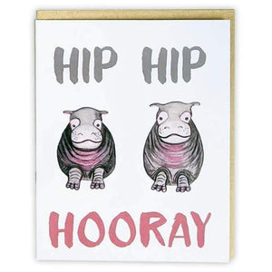 Red+Wolf greeting_card Hip Hip Hooray! - Greeting Card