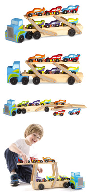 Melissa and Doug - Mega Race Car Carrier