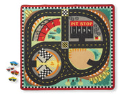 Melissa and Doug - Round the Speedway Race Track Rug & Car Set