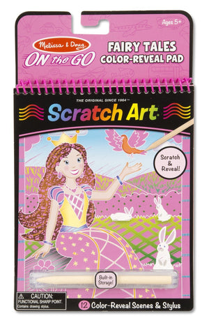 Melissa and Doug - On the Go Scratch Art Color Reveal Pad: Fairy Tales