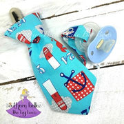 Southern Belle's Like Big Bows - Anchor Necktie Pacifier Clips