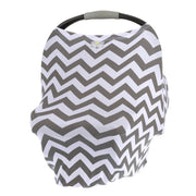 Itzy Ritzy Mom Boss 4-in-1 Multi Use Cover - C. Grey Chevron