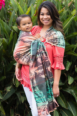 Tula Ring Sling - Seaside Miami (Tencel Blend)