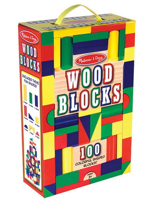 Melissa and Doug - 100 Piece Wood Blocks Set