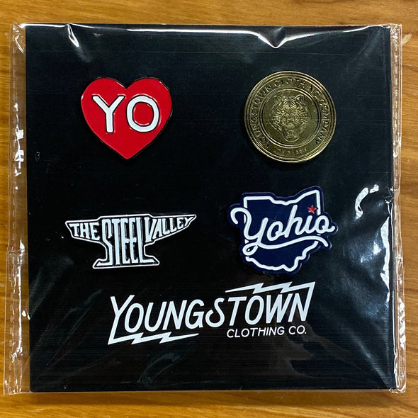 Youngstown Enamel Pin Pack