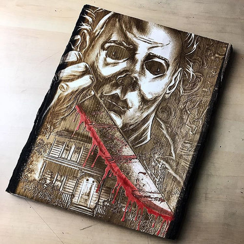 Michael Myers Halloween Wood Engraving