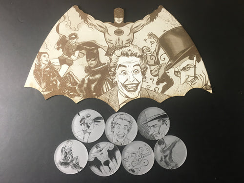 Batarang: Batman 66 Edition + Free Set of 7 Coasters