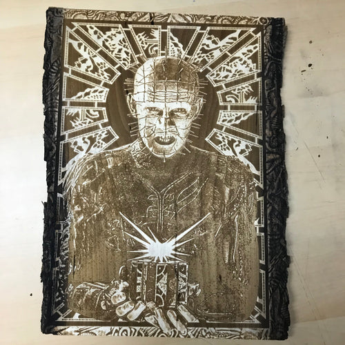 Hellraiser Wood Engraving