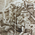 Justice League vs Avengers Wood Engraving