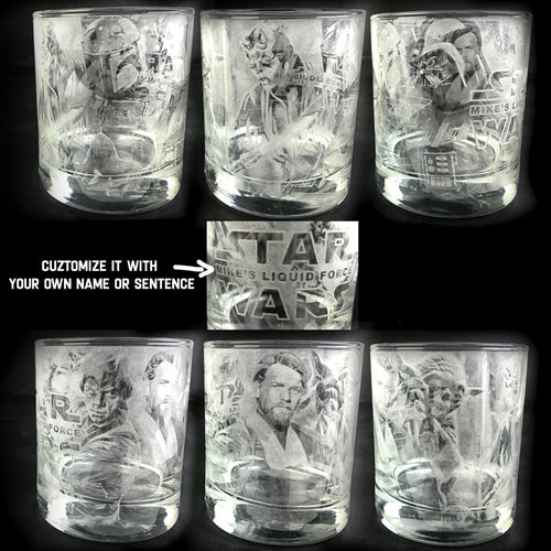 Customized Star Wars Whiskey Glass