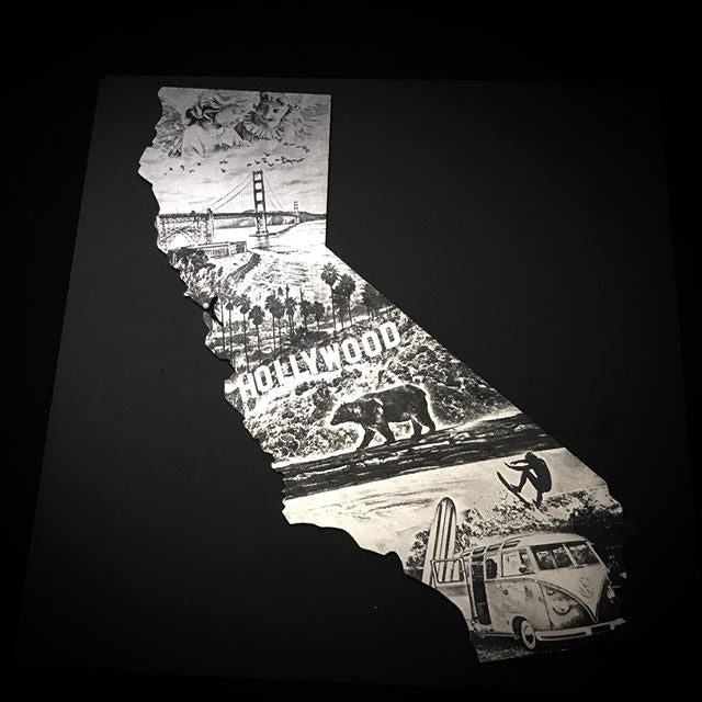 California Love Metal Engraving