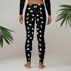 Bunny Print Leggings (Black)
