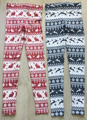 Rabbit Christmas Leggings (red & white)