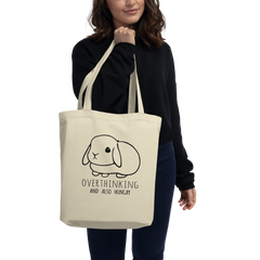 Overthinking and Also Hungry Eco Tote Bag