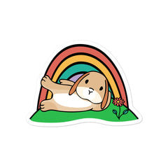 Holland Lop Bunny Bubble-free stickers