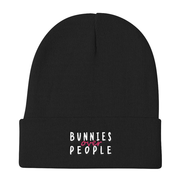 Bunnies over People Knit Beanie