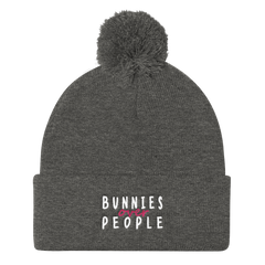 Bunnies over People Pom Pom Knit Cap