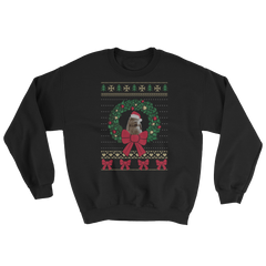 Worried Potato Bunny Ugly Christmas Sweatshirt (Unisex)